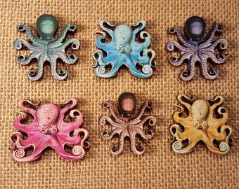 Octopus Necklace / Pink Octopus Pendant Necklace Blue Octopus / Nautical Jewelry / Aquarium Gift Shop / Nautical Necklace