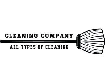 Cleaning Logo #22 Maid Service Housekeeper Housekeeping Clean Vacuum Mop Floor Broom Sweep .SVG .EPS .PNG Clipart Vector Cricut Cutting File