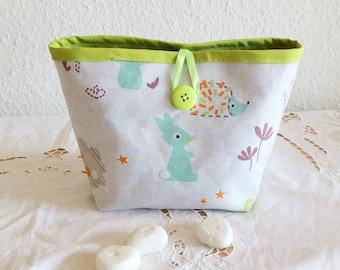 Kids pouch, kids storage pouch, kids colorful basket