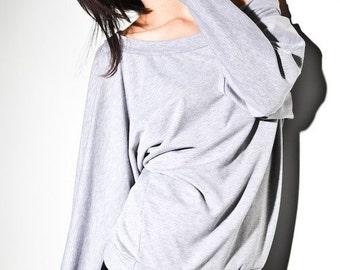 Sweater Off Shoulder Sweatshirt Oversized Dolman Sweater, off the shoulder sweaters, one shoulder sweater, cotton sweater, off shoulder tops