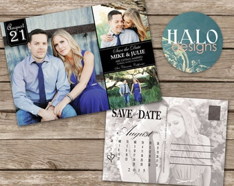 Save the Date Postcard, ANY COLOR, Save our Date, save the date calendar, simple save the date, printable save the date