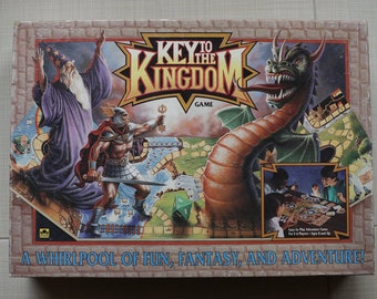 Keys To The Kingdom Board Game A Whirlpool of Fun, Fantasy and Adventure Golden Games 1992