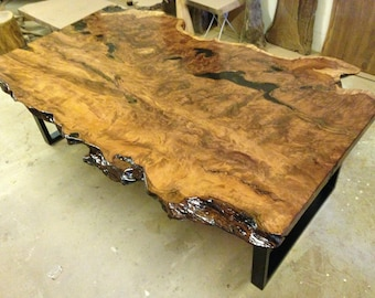 Live Edge Dining Table - Redwood Dining Table - Wood Slab Dining Table - Live Edge Table - Live Edge Slab Table - Wood Dining Table (29)