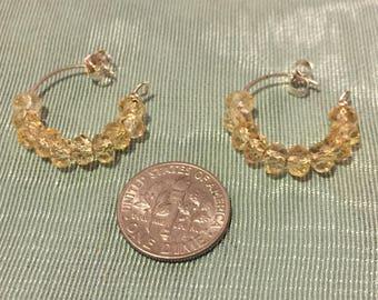 Vwalah Citrine loop earrings