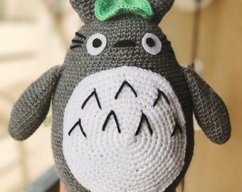 Totoro Plush - Totoro Amigurumi - Stuffed Totoro - Grey Totoro - Cute Plush - My Neighbor Totoro - Jumbo Totoro - Big Totoro