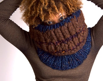 Chunky Knit Scarf, Knit Scarf, Knit Infinity Scarf, Knit Chunky Scarf, Knit Cowl Chunky, Knit Cowl, Knit Chunky Cowl - Winter Nights #1