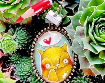 DILISA Handpainted cabochon for cat lover