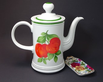Coffee can with Apple motif   Sixties 70s   Mitterteich Porcelain