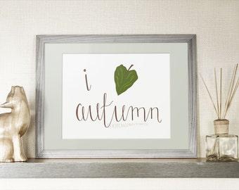 Fall Printable, Autumn Printable, Autumn Decor, Hand Lettered