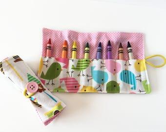 Crayon Holder - Birdhouses & Birds - Crayola Crayons - Stocking Stuffer - Christmas - Chanukah - Coloring Supplies - Party Favor