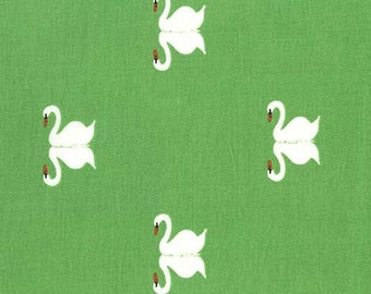 SALE Sommer Summer Swan Grass- Sarah Jane Studios for Michael Miller floral fabric