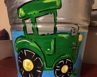 Handpainted personalized EASTER buckets pails galvanized