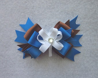 Girl Guides hair bow, Canada Girl Guides Bows, Sparks Bow, Brownie Bow, Girls bows, Hair clips. Girl Guide hair clips