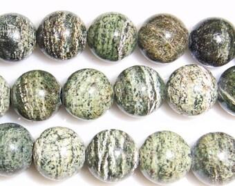 12mm Round Opal Green Bead Semiprecious Gemstone Bead String Beading 15''L Jewelry Supply Wholesale Beads