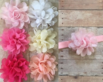 PICK 1 Baby Headband, Baby Girl Headband, Newborn Headband, Shabby Chic Headband, Headband Set, Baby Headband, You pick baby headband