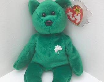 Retired TY Erin Beanie Baby With Unique Tag Errors