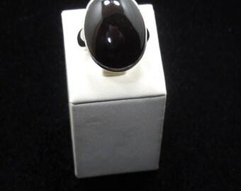 Naatural Black Onyx Silver 925 Ring