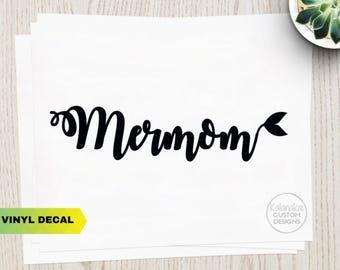 Mermaid Decal - Mermom Sticker - Mermaid Car Sticker - Mermom Car Sticker - Mermaid Life - Mermaid Mom Decal - Mermaid Mom Sticker