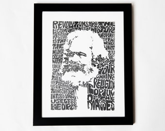 Karl Marx Silkscreen Print   10.5 x 14   Civil Disobedience Company