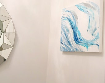 Hi Suzie - Original Acrylic Artwork - Blue Breeze