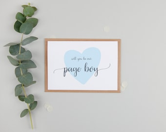Will You Be Our Page Boy Card - Card For Page Boy - Cute Page Boy Card - Page Boy Gift - Will You Be Our Page Boy - Page Boy Request Card