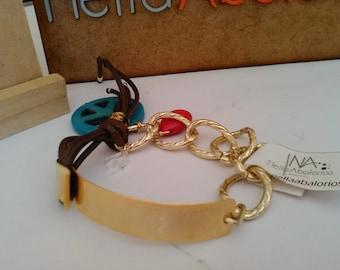 Jewellery Chain and plaque bracelet
