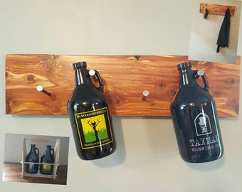 Growler wall display/ Growler hanger