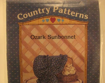 Country Craft Patterns Sewing Pattern for Ozark Sunbonnet Hat [L14]