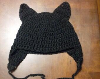 Hand Crocheted Cat Hat