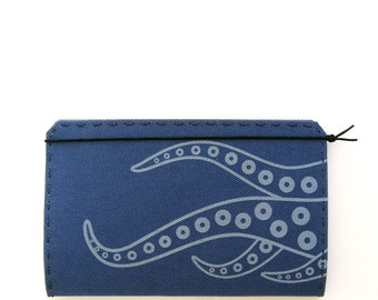 Waving Tentacles Canvas Moleskine Cahier Notebook Cover - Choice of 6 Colors - Fits 3.5 x 5.5 inch Moleskine Cahier / Field Notes