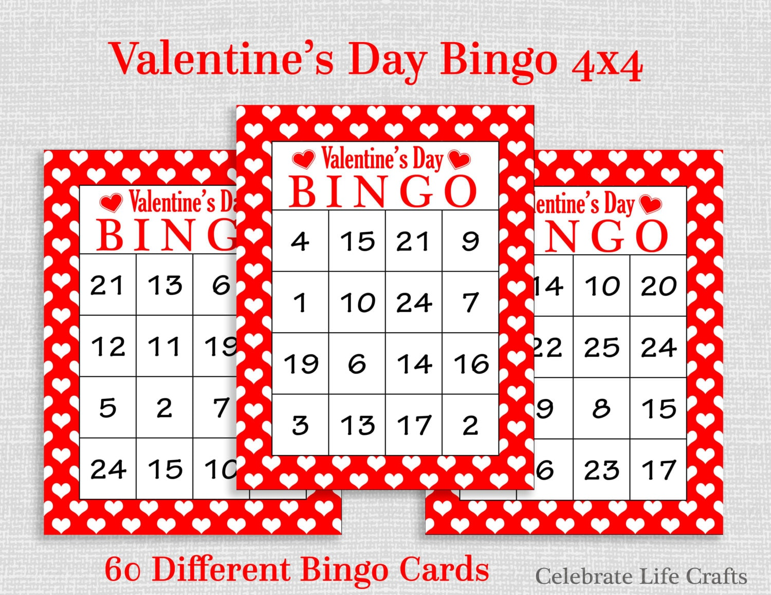 Striking image for printable valentine bingo card