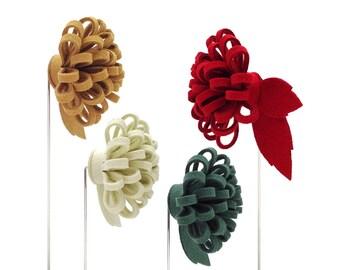 Flower lapel pin, boutonniere, mens lapel pin, groom lapel pin, wedding lapel pin, ocher lapel pin, white lapel pin, greenery lapel pin.