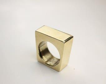 Geometric ring Bronze