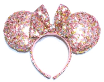Multicolor Sequin Ears - Pink Sequin Mouse Ears - Gold Sequin Mouse Ears - Silver Sequin Mouse Ears - Sequin Minnie Mouse Ears Inspired -