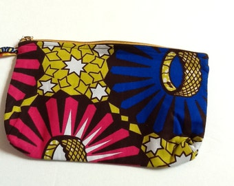 Pencil pouch, Zipper pouch, Ankara pouch, Cosmetic Make-up bag, African print pouch, African print coin purse, Pencil case, Gift for women