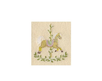 Carousel Horse - Spring - I Will Machine Embroider Onto Your Custom Item