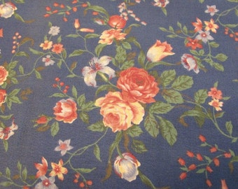 Vintage Floral Garden fabric sold by the yard