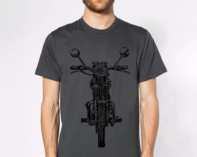 KillerBeeMoto: Limited Release Hand Drawn Vintage British Engineered Motorcycle Short Or Long Sleeve T-Shirt