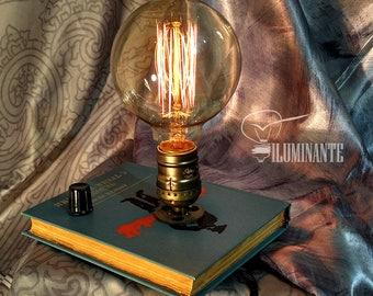 "Book lamp Retro Table Lamp ""Iluminante"" by Copper Cat Art Group Steampunk handwork"