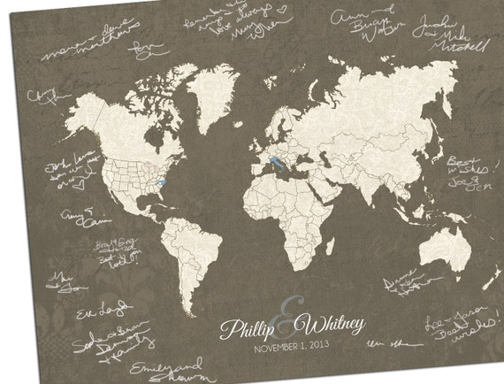 Custom world map custom map gift personalized map wedding gumiabroncs Choice Image