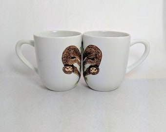 Sloth Mug Cute Coffee Mug Animal Mug Matching Couples Gift Cute Sloth Lovers Gift Funny Couples Mug Set His and Hers Wedding Present
