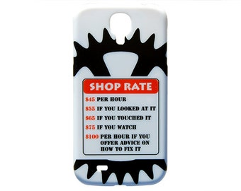 Shop Rates Phone Case Mechanic Humor for Samsung Galaxy S4 S5 Plastic Hard Cover Design c170