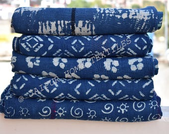 5 pcs lot (Free shipping ) special indigo kantha throws, Kantha Quilt ,Twin Size Hand Made Bed Cover, Indigo Kantha Quilt, blanket, throw