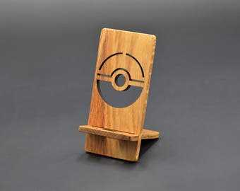 Pokemon Go  iphone/Android Charging Stand, Custom pokemon gift, Smart Phone Stand, Cell Phone Charging Station, Smartphone Stand pokeball