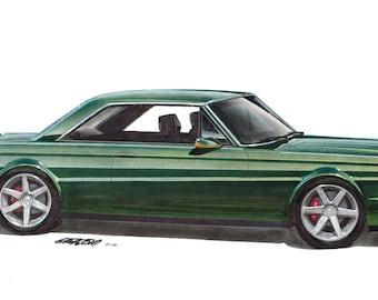1965 Falcon Futura Project Car 12x24 inch Art Print by Jim Gerdom