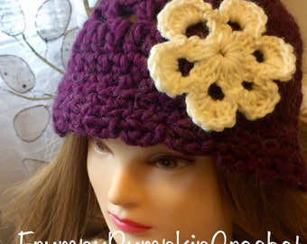 Purple flower hat