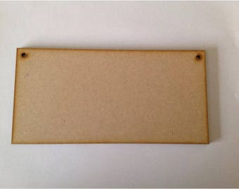 5 x Wooden Plaque Signs MDF