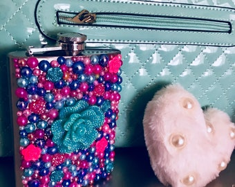 Flower Power Stainless Steel Flask