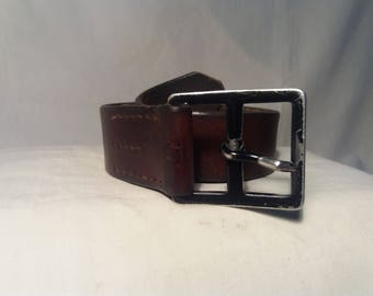 Vintage Swiss Army Soldier Leather Belt