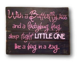 Lady Bug Hug Nursery Decor / Nursery Wall Hanging